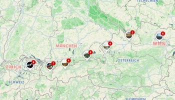 Zugfahrt Railjet von Zürich nach Wien, OEBB