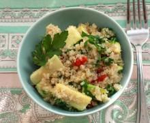 Quinoa veggie lunch, anti-stress kost, youbeee, nina cermak