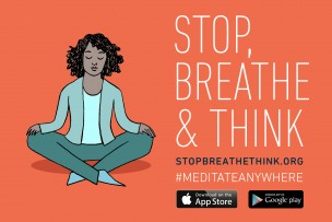 Meditations-App, Stop, Breathe & Think