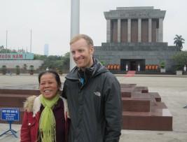 Chris Cummins Reise Journalist in Vietnam, Ho Chi Minh Palast