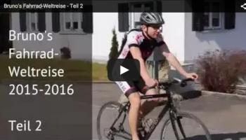 Brunos letzte Vorbereitungen auf seine Fahrrad-Weltreise