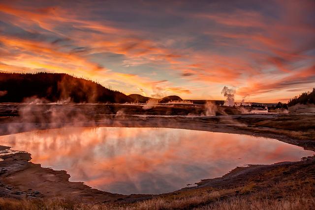 Sonnenuntergang-Bill Young-Yellowstone Nationalpark-USA-CC BY