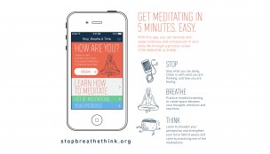 Meditations-App, Stop, Breathe & Think