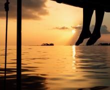 Reisen Kuramathi, Sonnenuntergang, Meer, einfach Sein